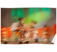 Carnival dancers - Argentina Poster