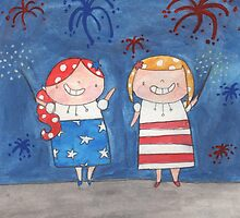 July - Year of Sisters - Watercolor by pigandpumpkin