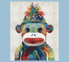 Sock Monkey Art - Your New Best Friend - By Sharon Cummings Kids Clothes