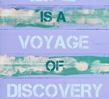 LIFE IS A VOYAGE OF DISCOVERY  motivational quote by Stanciuc
