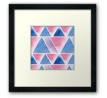 Triangular pattern Framed Print