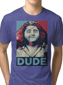 DUDE, It's Hurley Reyes from the TV show LOST Tri-blend T-Shirt