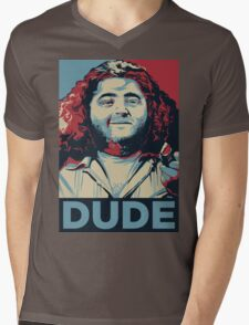 DUDE, It's Hurley Reyes from the TV show LOST Mens V-Neck T-Shirt