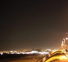 Redondo Beach California at Night 0401 by eruthart