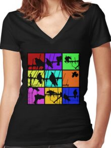 Colours Of Asylum T Women's Fitted V-Neck T-Shirt