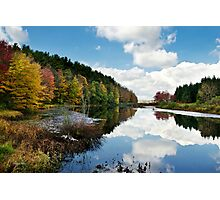Beautiful Autumn Reflection Landscape Photographic Print