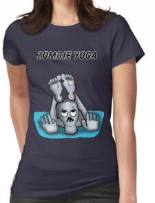 Zombie Yoga  Womens Fitted T-Shirt