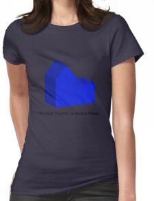 We Built This City on Rock & Wheat (BLUE) Womens Fitted T-Shirt