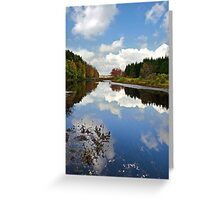 Long Pond Cloud Reflection Landscape Greeting Card