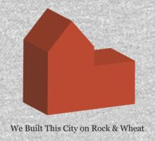 We Built This City on Rock & Wheat (ORANGE) Kids Clothes
