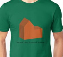 We Built This City on Rock & Wheat (ORANGE) Unisex T-Shirt