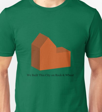 We Built This City on Rock & Wheat (ORANGE) Unisex T-Shirt