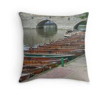 Waiting for Customers Throw Pillow
