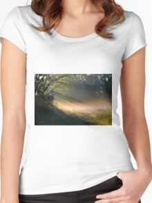 Rays Of Summer Women's Fitted Scoop T-Shirt