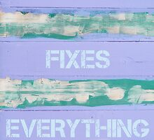 THE BEACH FIXES EVERYTHING  motivational quote by Stanciuc