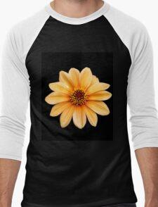 Single Orange Flowering Dahlia - Large Flower Men's Baseball ¾ T-Shirt