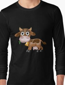 Little cow with bell  Long Sleeve T-Shirt