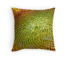 Nature Abstract Sunflower Throw Pillow