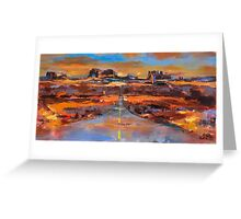 The land of Rock Towers Greeting Card