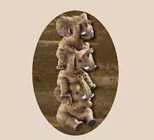 ELEPHANTS...SEE NO EVIL..HEAR NO EVIL,SPEAK NO EVIL TEE SHIRT  Womens Fitted T-Shirt