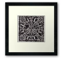 Monotheistic Peace, Ink Framed Print
