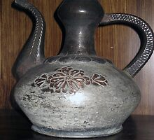 Turkish old  cooper jug with a long handle by tulay cakir