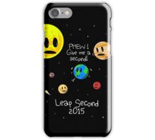 Leap Second 2015 iPhone Case/Skin