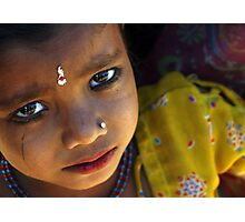 hungry eyes, India Photographic Print