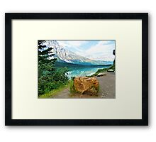 Rock By The Lake Framed Print