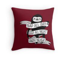 Life Sloth Throw Pillow