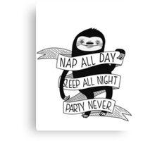 Life Sloth Canvas Print