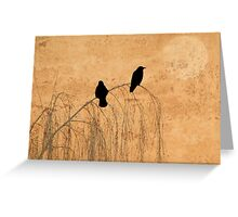 Crow Paper Greeting Card