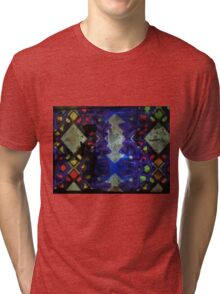 Purple geometric light art design Tri-blend T-Shirt