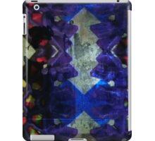 Purple geometric light art design iPad Case/Skin