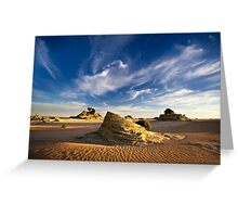 Lunettes - Lake Mungo Greeting Card