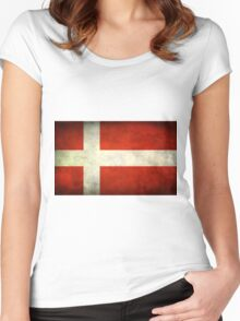 Denmark Flag Women's Fitted Scoop T-Shirt