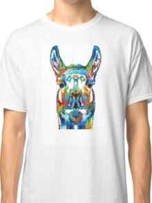 Colorful Llama Art - The Prince - By Sharon Cummings Classic T-Shirt