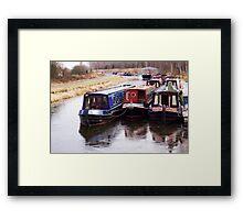 Berthed Barges Framed Print