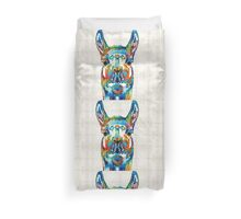 Colorful Llama Art - The Prince - By Sharon Cummings Duvet Cover