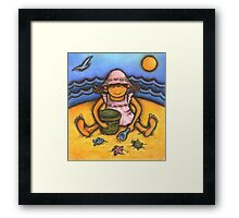 Beach Baby Framed Print