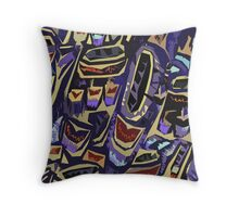 'Native Bird ii'- texture. Throw Pillow