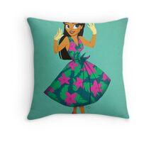 Girl of Adventure Throw Pillow