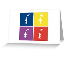 Pikmin Blocks Greeting Card