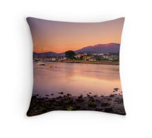 Lindisfarne at sunrise in HDR Throw Pillow