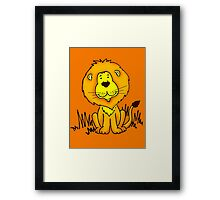 Cute Little Lion graphic drawing Framed Print