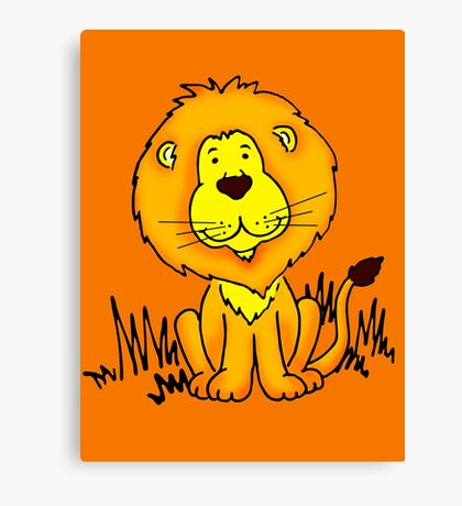 Cute Little Lion graphic drawing Canvas Print