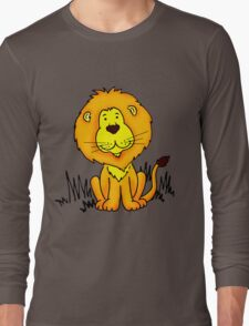 Cute Little Lion graphic drawing Long Sleeve T-Shirt