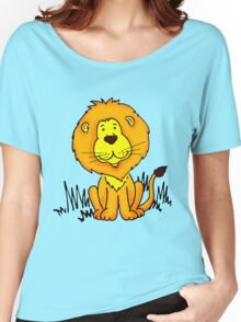 Cute Little Lion graphic drawing Women's Relaxed Fit T-Shirt