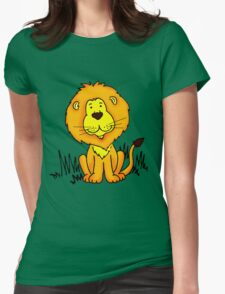 Cute Little Lion graphic drawing Womens Fitted T-Shirt