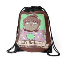 Aoi's Bakery - distressed Drawstring Bag